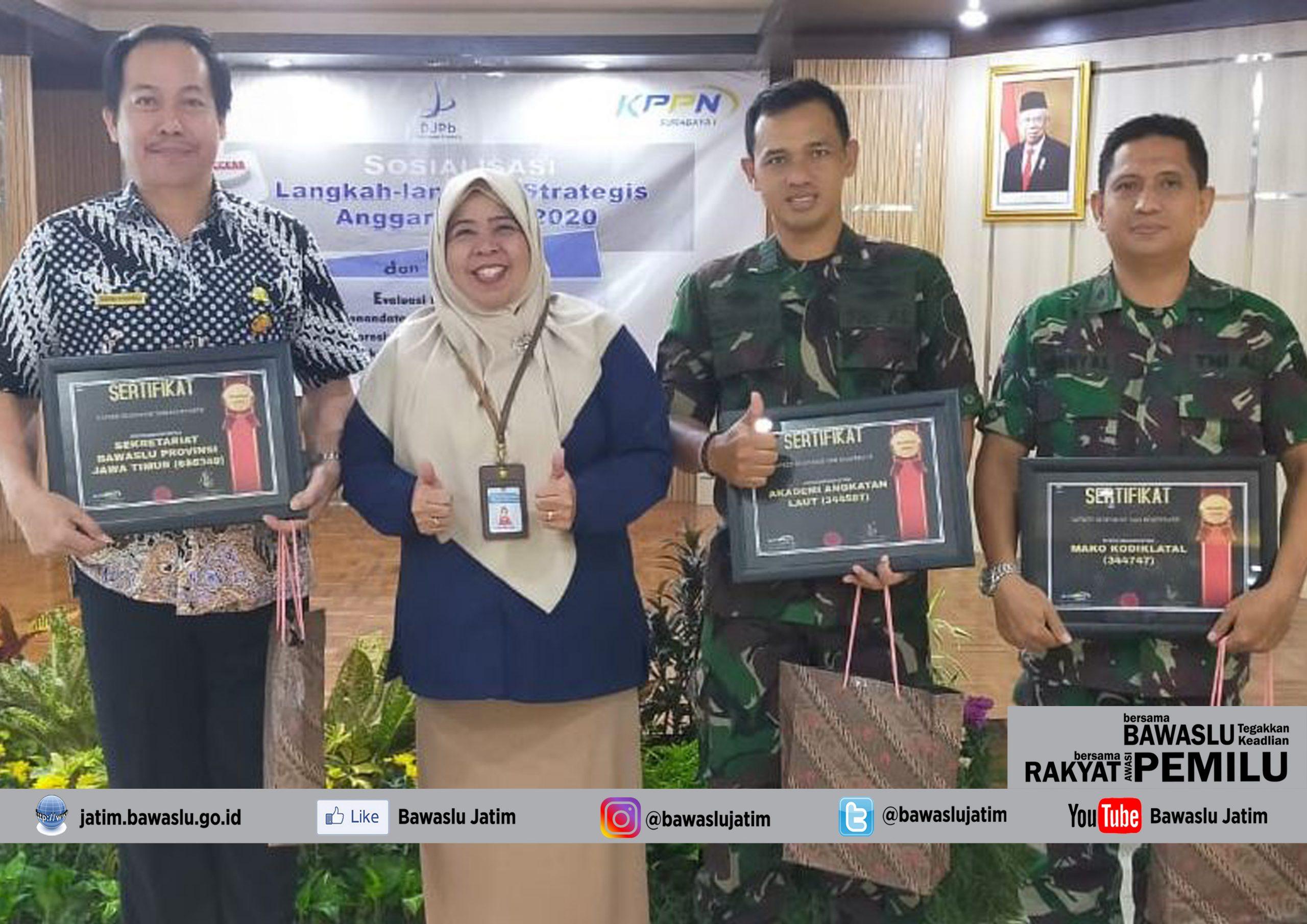 Penghargaan dari KPPN 1 Surabaya